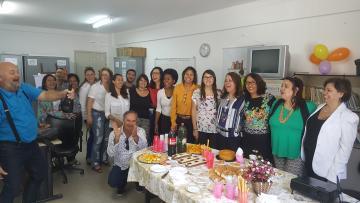 Alguns participantes no coquetel de comemoração do NEDI e IESC.
